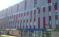 Ремонт фасада торгового центра - после
