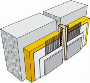 деформационный шов фасада