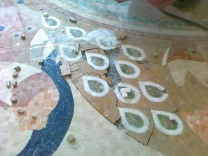 Реставрация мозаики пола